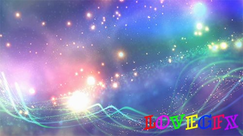 Bright Sparkling Stars Motion Background