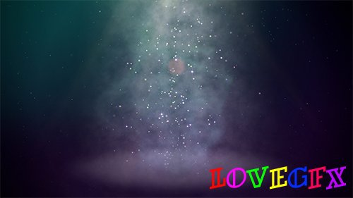 Light Column Particles Motion Background
