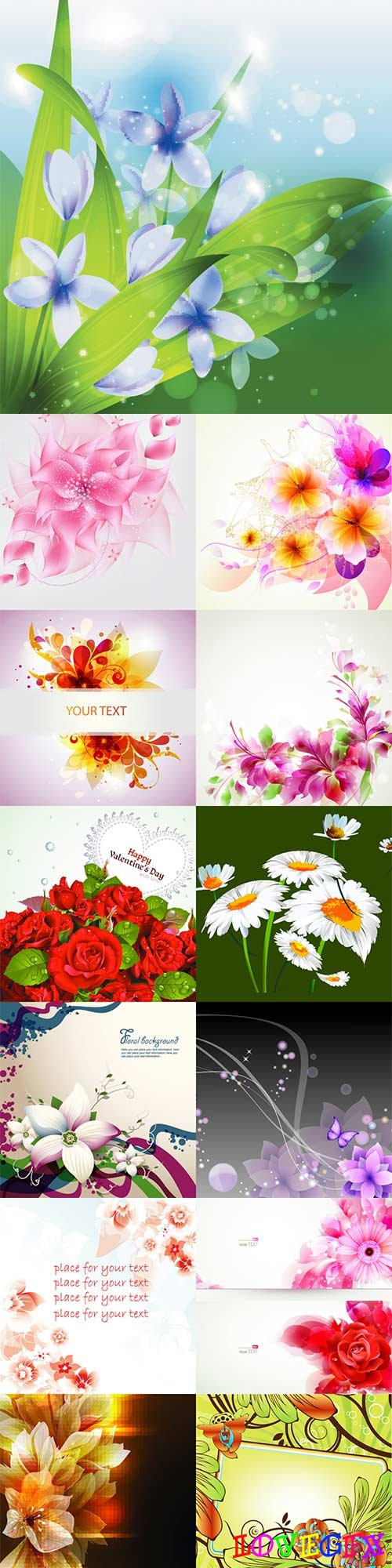 Awesome vector flowers - 14