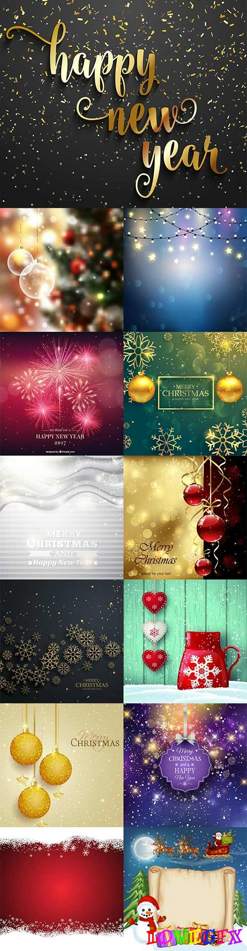 Beautiful New Year vector background 2