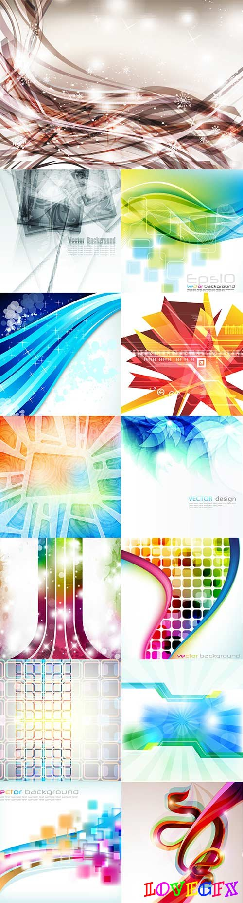 Bright colorful abstract backgrounds vector - 63