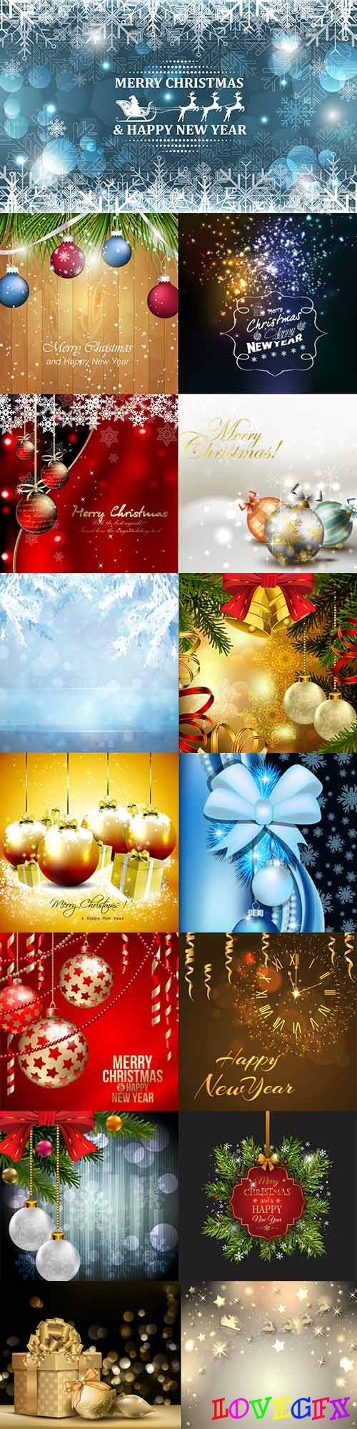 Beautiful New Year vector backgrounds