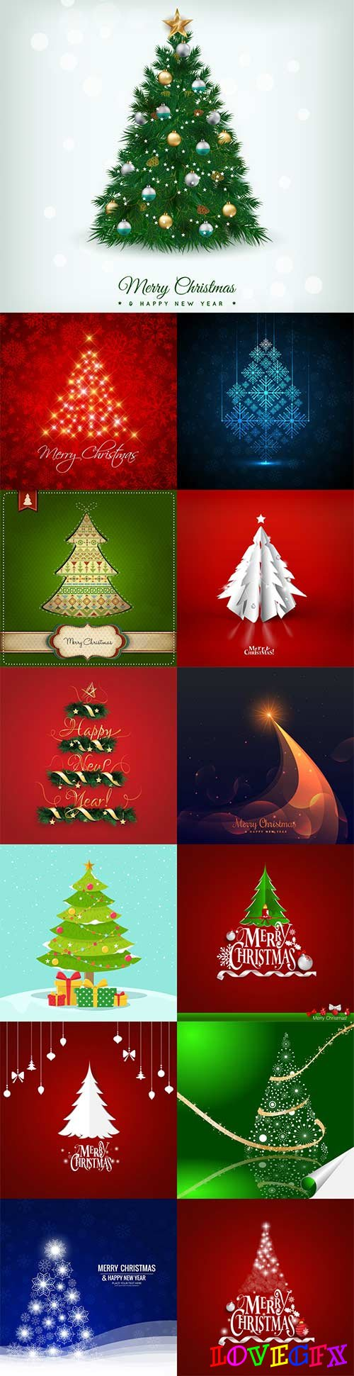 Christmas tree vector - 5
