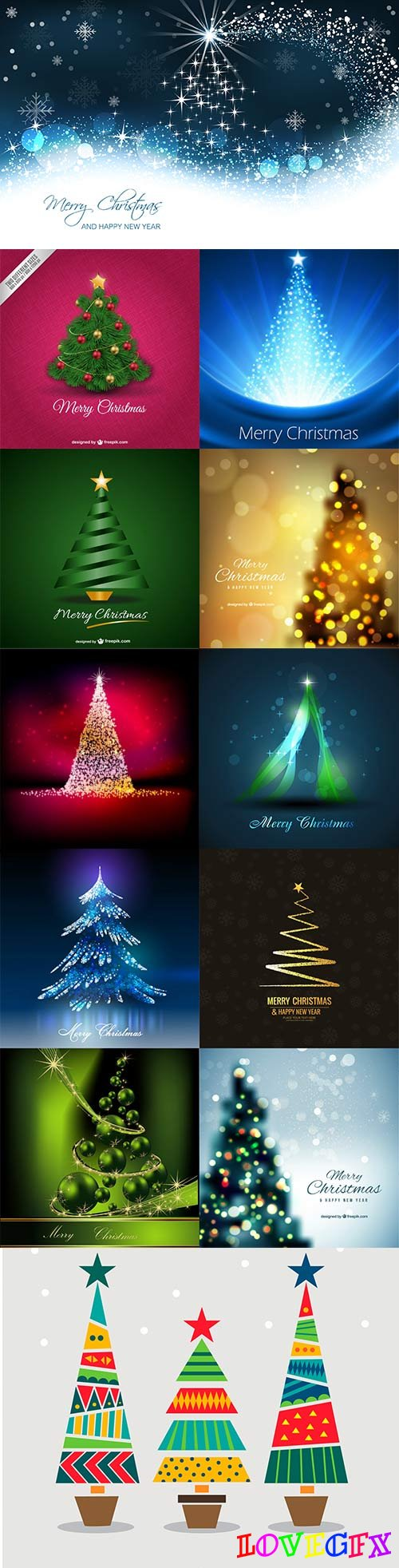 Christmas tree vector - 4