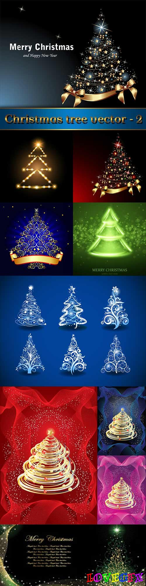 Christmas tree vector - 2