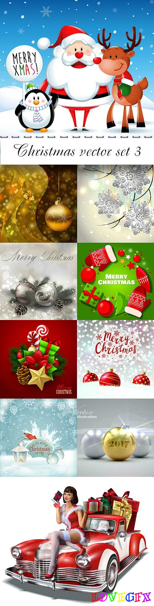 Christmas vector set 3