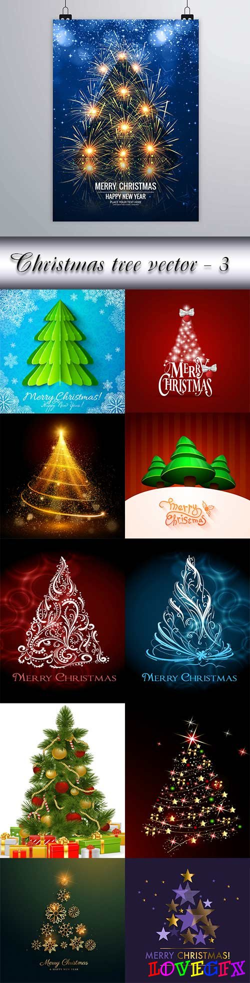Christmas tree vector - 3