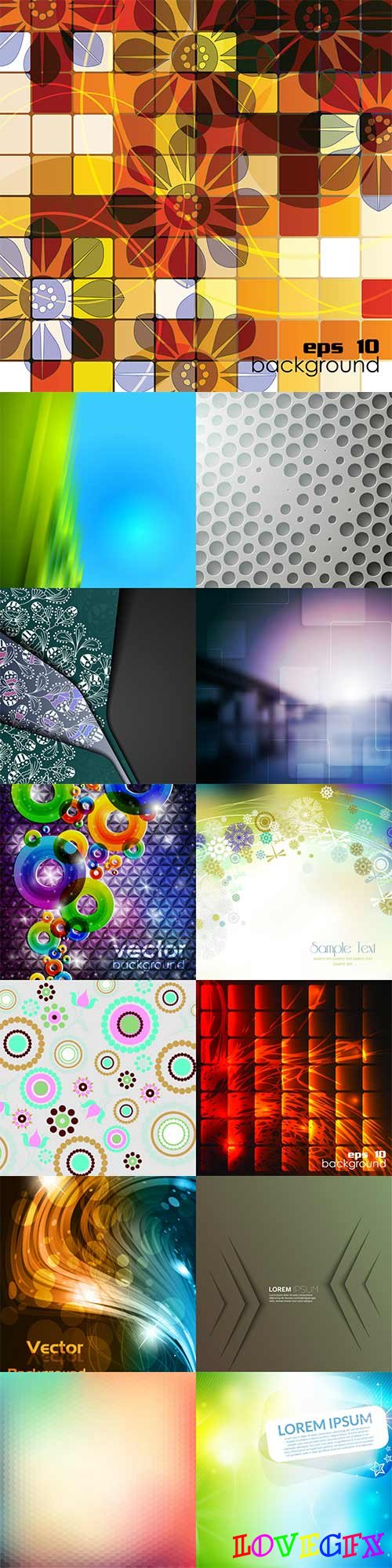 Bright colorful abstract backgrounds vector -58