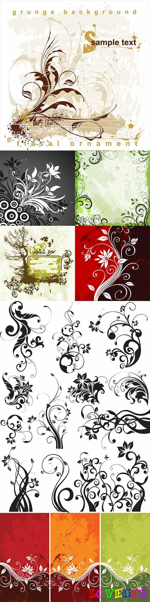 Plant design vector elements - 6