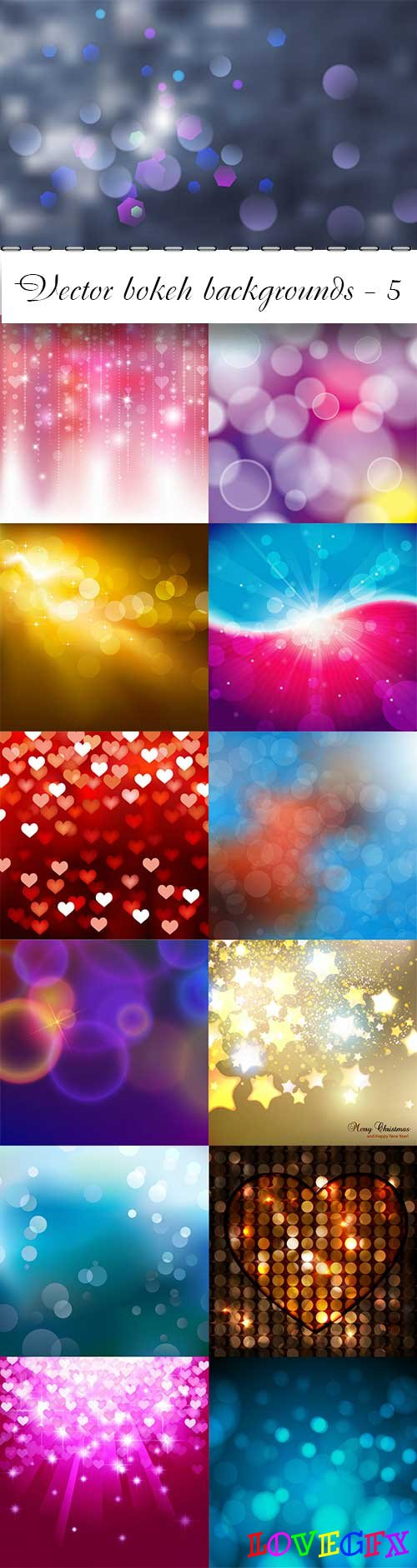 Vector bokeh colorful backgrounds - 5