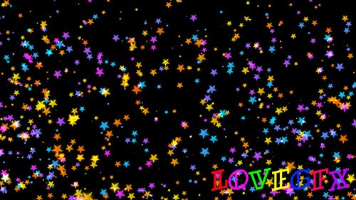 Falling colored stars video background