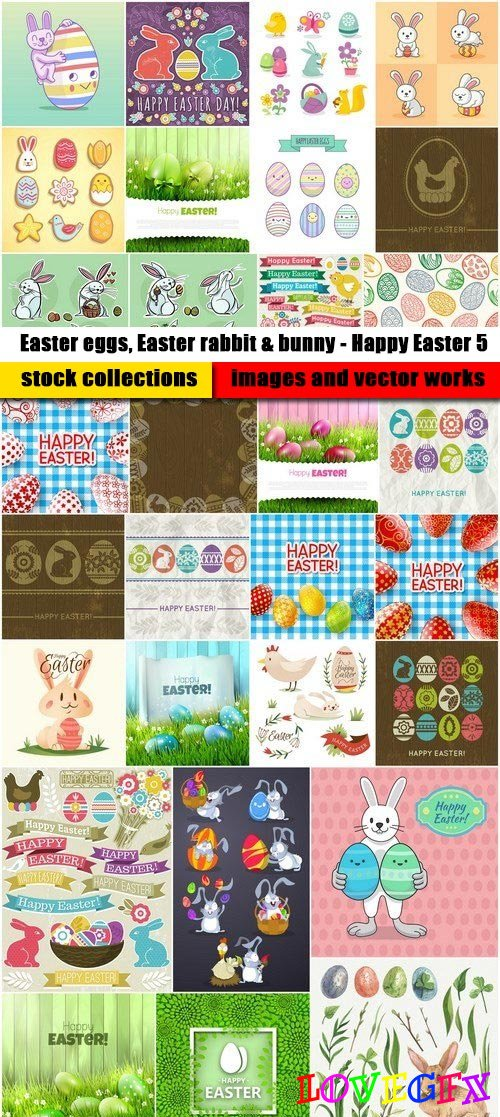 Easter eggs, Easter rabbit & bunny - Happy Easter 5