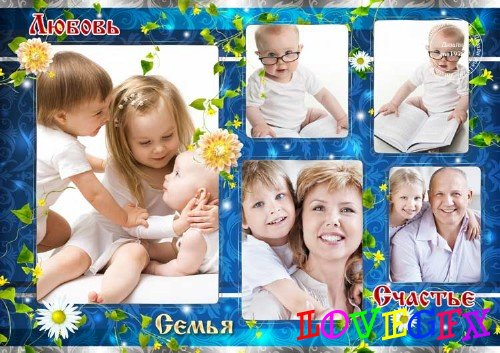 Frame for Photoshop - Family is love and happiness