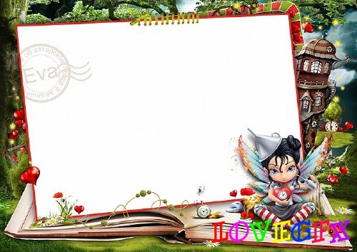 Child`s photo frame - Fairy heart