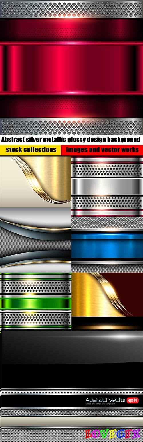 Abstract silver metallic glossy design background