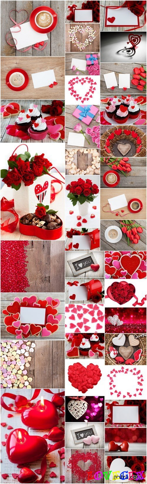 Love, Romance, Heart, Gifts - Valentines Day part 5 - Set of 40xUHQ JPEG Professional Stock Images