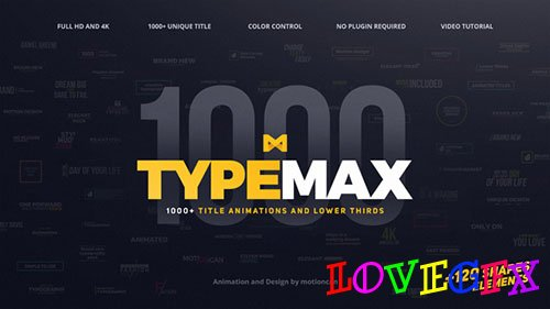 TypeMax | 1000 Titles and Lower Thirds - Project for After Effects (Videohive)