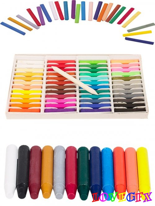 Photo stock: Crayons and pastels (stationery)