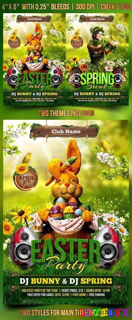 Spring and Easter Flyer Template 106689