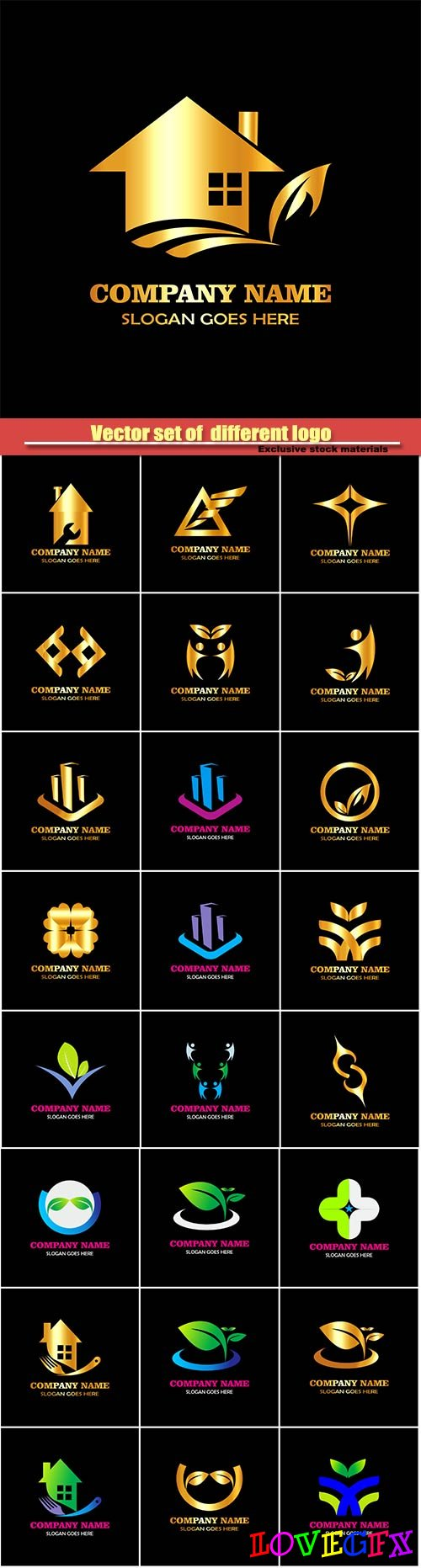 Vector set of  different logo #2