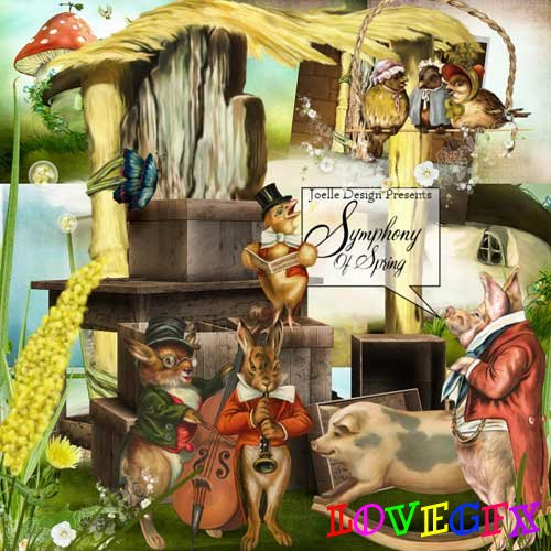 Scrap kit - Symphony of Spring