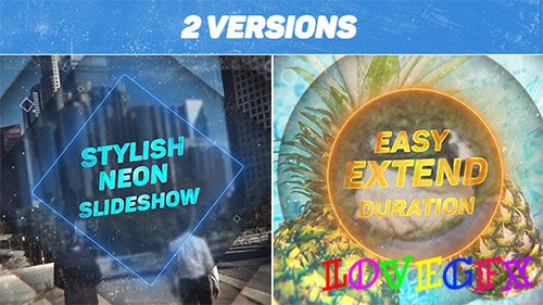 Stylish Neon Slideshow - Project for After Effects (Videohive)