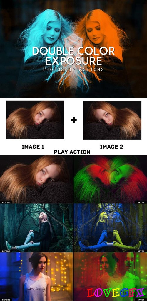 Double Color Exposure Actions