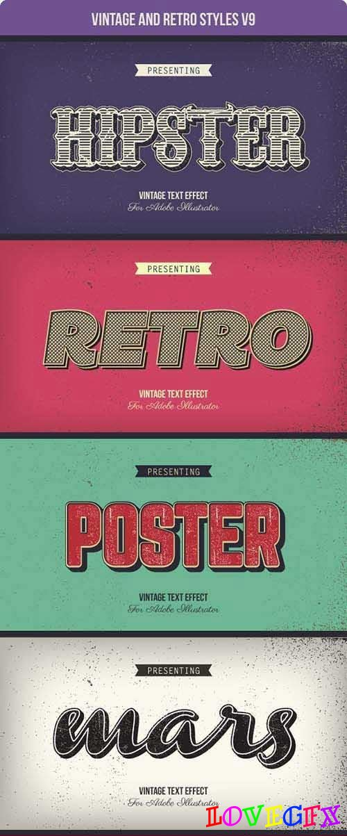 Vintage and Retro Styles V9