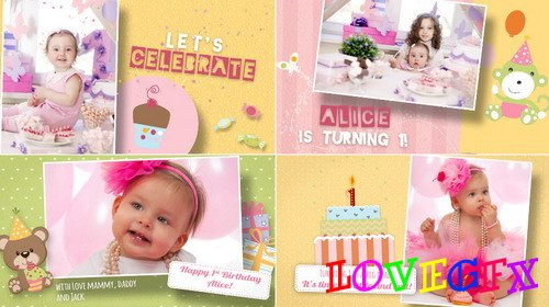 Birthday Wishes Girl - Project for After Effects