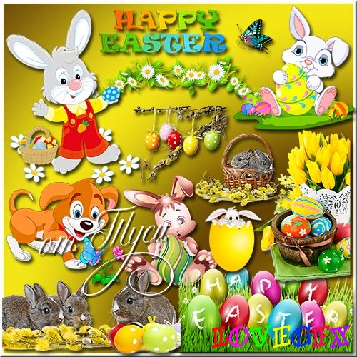 Clipart - Easter compositions 14