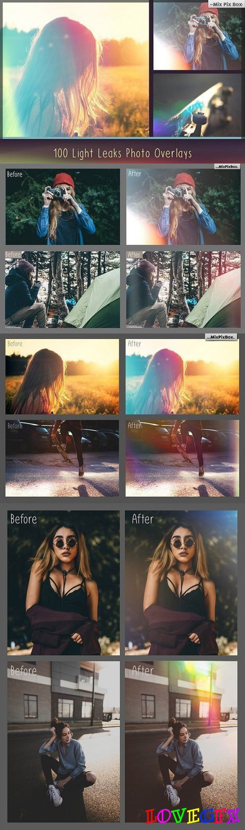 100 Light Leaks Overlays 836751