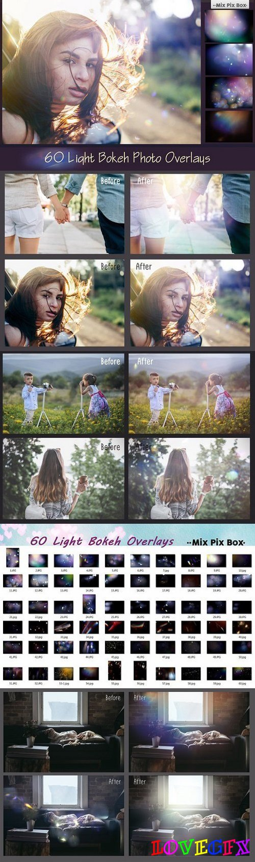 60 Light Bokeh Overlays 700451