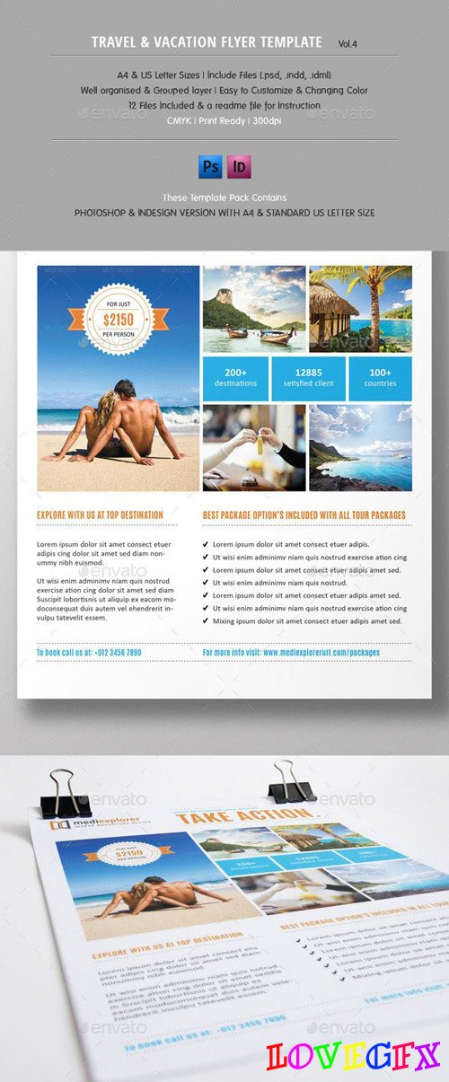 Travel & Vacation Flyer Ads Vol.4