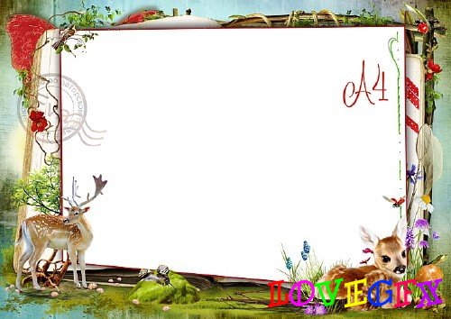 Child`s photo frame - My little fawn