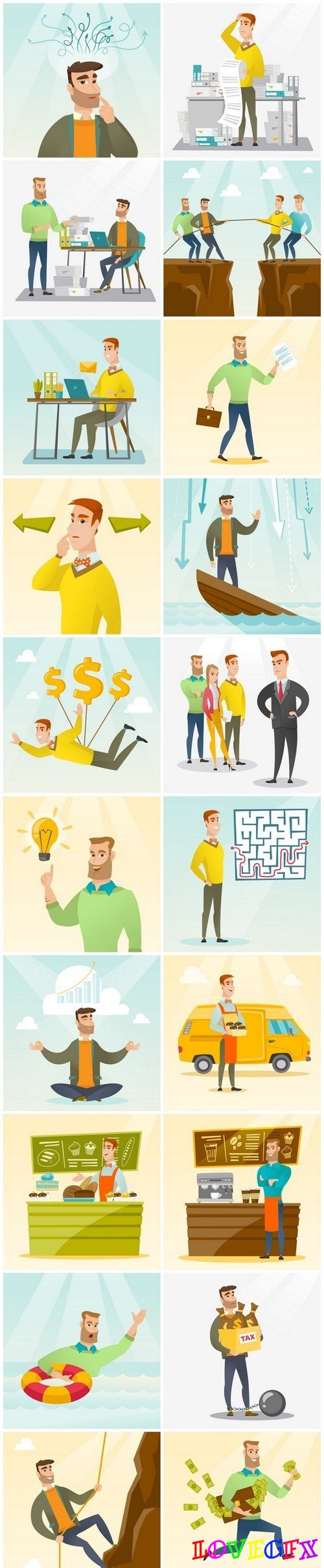 Business people concept - 20xEPS