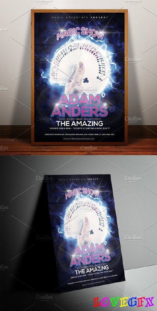 Magician Poster Print Template - 182389