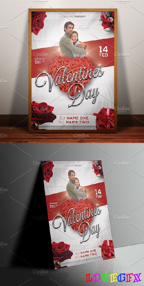 Valentine Day Poster Print Template - 183877