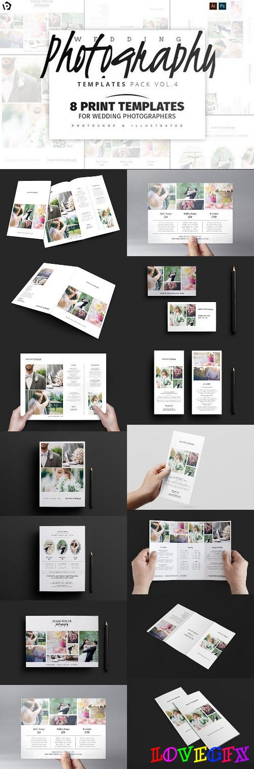 Wedding Photographer Template Pack 4 1347996