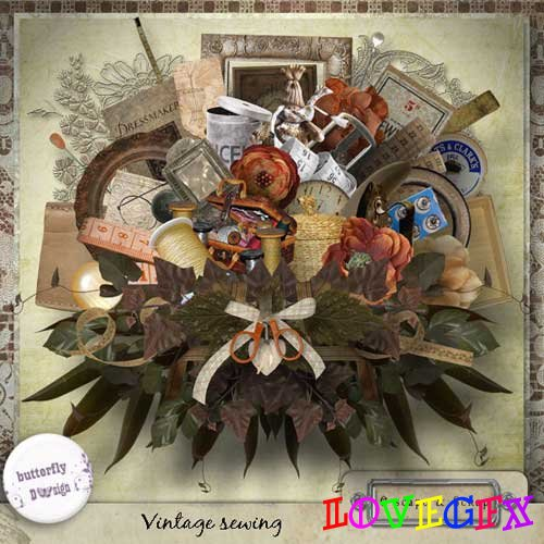 Scrap kit - Vintage Sewing