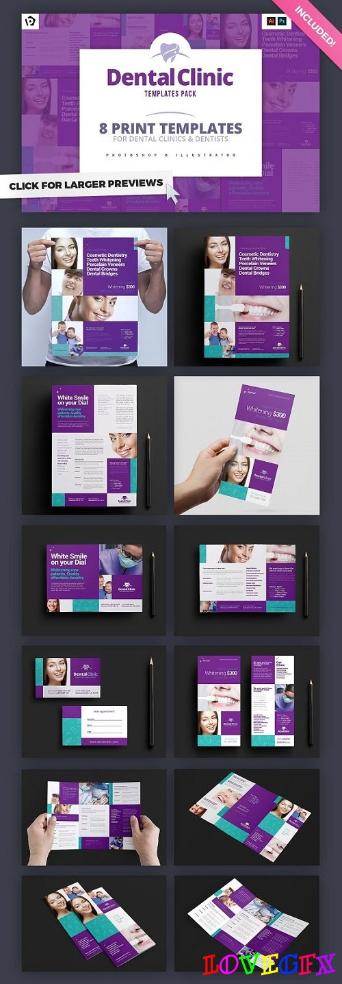 Dental Clinic Templates Pack - 1186062