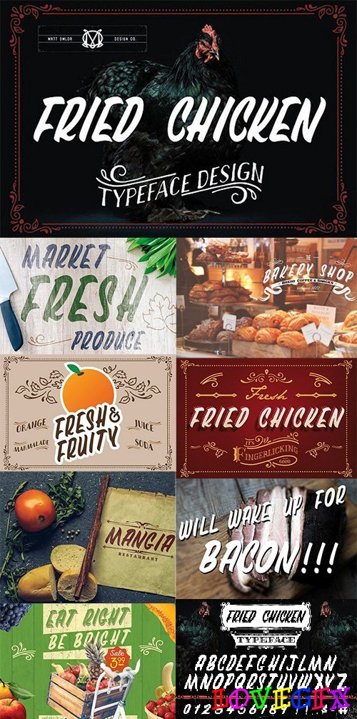 Fried Chicken Typeface 1392883