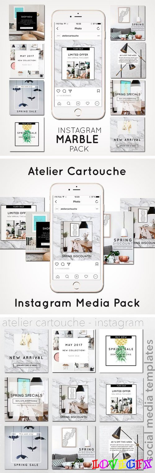 Instagram Template Marble - 1436276