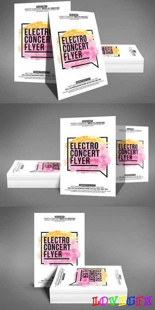 Electro Concert Flyer Template 1186839