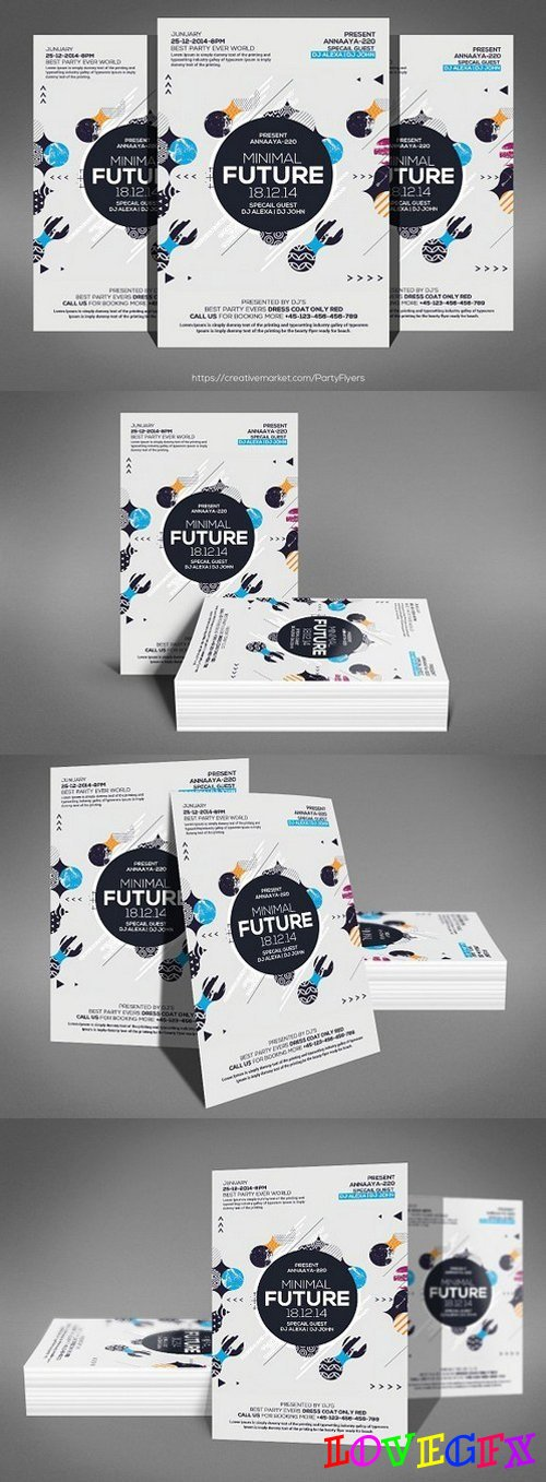 Abstract Future Flyer 1247980