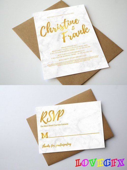 Marbel Wedding Invitation 1202328