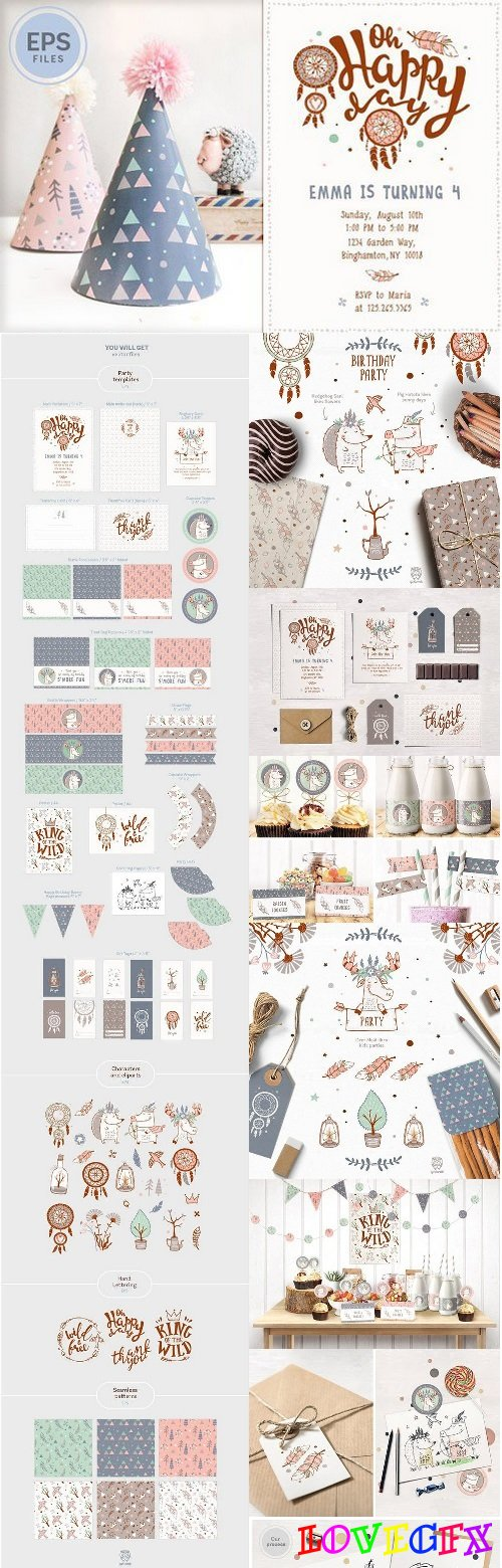 Boho Birthday Party Kit 709930