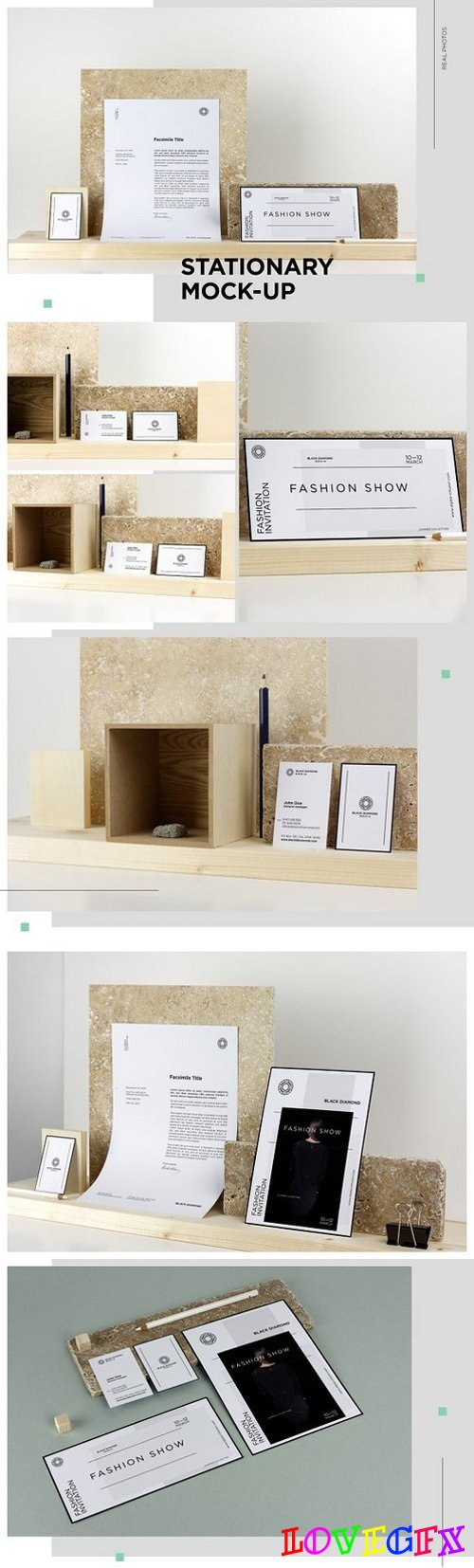 Stationary Mockup / Real Photo Scens 1372249