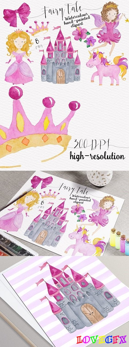 Fairytale Watercolor Collection - 623801