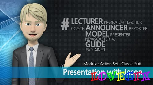 Presentation With Jason: Classic Suit - Project for After Effects (Videohive)