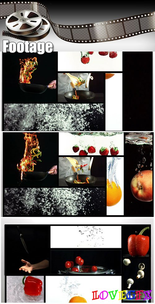 Video footage Short clips about cooking ending with white background
